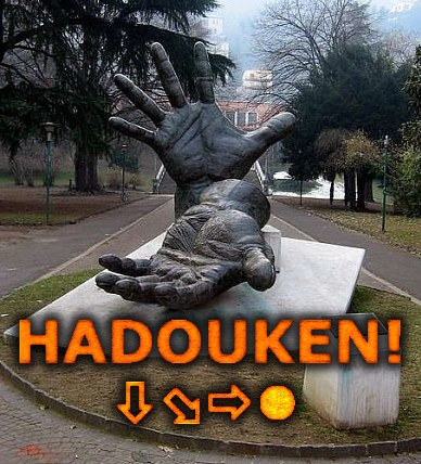 IRTI - funny picture #2016 - tags: StreetFighter2 statue