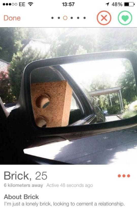 IRTI - funny picture #8794 - tags: awful tinder profiles brick