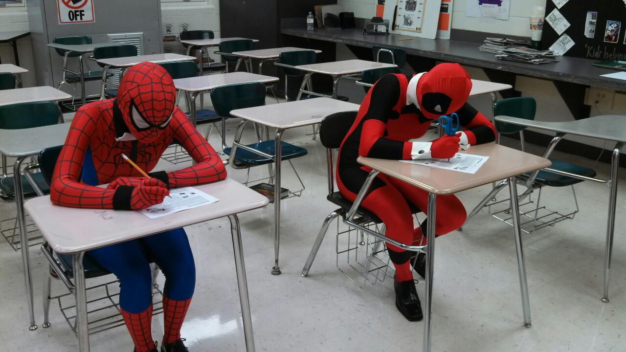 Image result for image spiderman at school