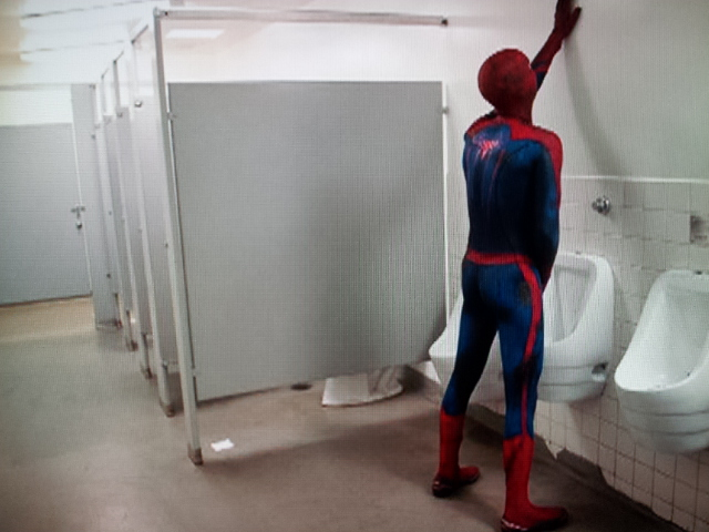 Irti Funny Picture 2219 Tags Spiderman Toilet Stop Bathroom