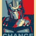 Radnom funny picture tags: optimus-prime transformers change obama poster