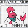 Radnom funny picture tags: Futurama spreadsheet why not zoidberg