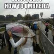 Radnom funny picture tags: I-forgot-how-to umbrella upside-down raining girl