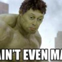 Radnom funny picture tags: Incredible-Hulk Steve-Buscemi not-even-mad macro not-mad