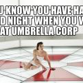 Radnom funny picture tags: Resident-Evil good night umbrella Milla-Jovovich