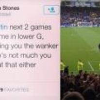 Radnom funny picture tags: Sylvain-Distin Everton confronting twitter Manchester-United