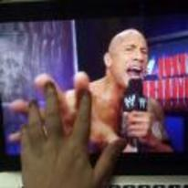 Radnom funny picture tags: WWE touching the-rocks hand dwayne-johnson