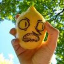 Radnom funny picture tags: adventure-time IRL lemon-grab face-drawn-on lemon