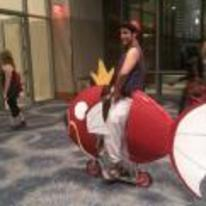 Radnom funny picture tags: aladdin cosplay pokemon magikarp magic-carpet-pun