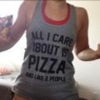 Radnom funny picture tags: all-I-care-about-is-pizza and-like-two-people girl t-shirt pizza