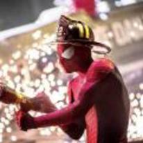 Radnom funny picture tags: amazing spiderman fireman hose helmet