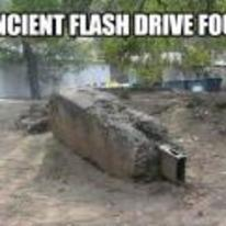 Radnom funny picture tags: ancient flash-drive found old flintstones