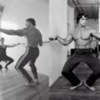 Radnom funny picture tags: arnold-schwarzenegger dancing ballet mirror arnie