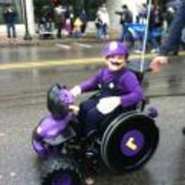 Radnom funny picture tags: awesome waluigi costume wheel-chair mario-kart