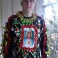 Radnom funny picture tags: awful christmas jumper jesus its-my-birthday