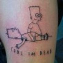 Radnom funny picture tags: awful-tattoo simpsons bart ghost cool-im-dead