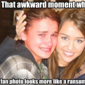 Radnom funny picture tags: awkward moment fan photo ransom-demand