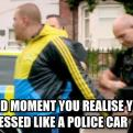Radnom funny picture tags: awkwardmoment police arrested dressed like