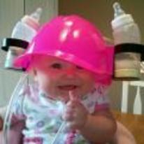 Radnom funny picture tags: baby beer-helmet milk bottles happy