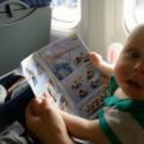 Radnom funny picture tags: baby plane reading what-have-you-got-us-into shocked
