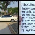 Radnom funny picture tags: bad parking note troll PassiveAggressive