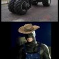 Radnom funny picture tags: batman tractor farmer perfect farm