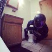 Radnom funny picture tags: biker motorcycle leaning helmet toilet