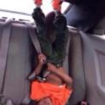 Radnom funny picture tags: black-twitter back-seat high-af upside-down kid