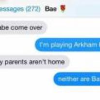 Radnom funny picture tags: black-twitter batman my-parents-arent-home neither-are-batmans text