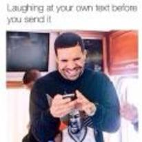 Radnom funny picture tags: black-twitter drake laughing-at-text before-sent laughing