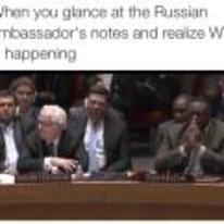 Radnom funny picture tags: black-twitter glance russian-notes WW3-happening reaction