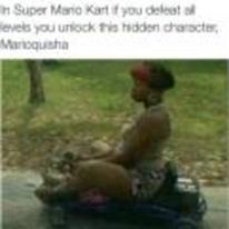 Radnom funny picture tags: black-twitter mario-kart hidden-character unlock marioquisha
