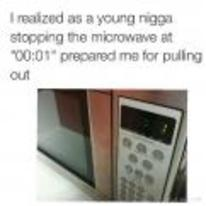 Radnom funny picture tags: black-twitter microwave pulling-out 1-second training