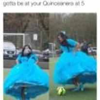 Radnom funny picture tags: black-twitter quinceanera dress soccer football
