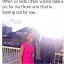 Radnom funny picture tags: black-twitter side-chick god-is-looking-out-for-you sun picture