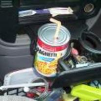 Radnom funny picture tags: can campbells spaghetti car cup-holder