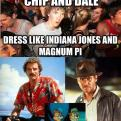 Radnom funny picture tags: chip-and-dale dress indiana-jones magnum-pi Whoa