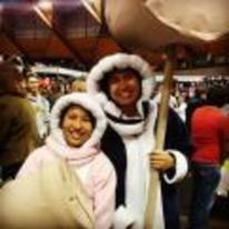 Radnom funny picture tags: couple halloween costume ice-climbers cosplay