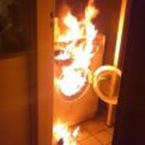 Radnom funny picture tags: crazy washing-machine on-fire burning kitchen