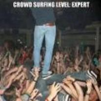 Radnom funny picture tags: crowd surfing level expert standing-up