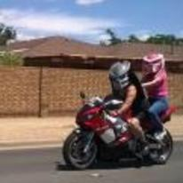 Radnom funny picture tags: dad-and-daughter-day predators bike-helmets motorbike pink