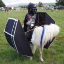 Radnom funny picture tags: darth-vadar star-wars horse costume use-the-horse