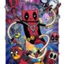 Radnom funny picture tags: deadpool adventure-time mash-up poster epic