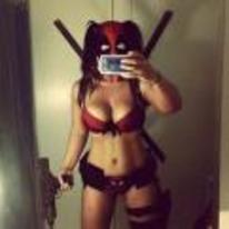 Radnom funny picture tags: deadpool girl cosplay boobs bikini