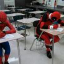 Currently trending funny picture tags: deadpool spiderman test school class