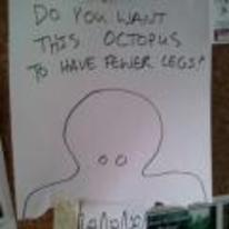 Radnom funny picture tags: do-you-want-this-octupus-to-have-fewer-leggs yes no take-one notice-board