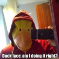 Radnom funny picture tags: duck face selfie mirror mask