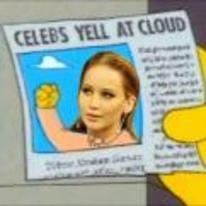 Radnom funny picture tags: fappening jennifer-lawrence simpsons celebs-shout-at-cloud newspaper