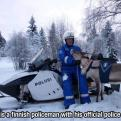 Radnom funny picture tags: finish police official reindeer Snowmobile