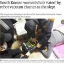 Radnom funny picture tags: future-tech robot-vacuum-cleaner eats-womans-hair korea its-happening